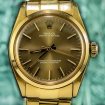 Rolex Ladies Oyster Perpetual Caramel 18K Solid Gold - Case 31mm