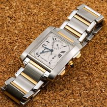 Cartier W51004Q4 Gold/Steel Tank Française 28mm pre-owned United States of America, New York, NewYork