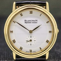 Blancpain Yellow gold Manual winding White 34mm pre-owned
