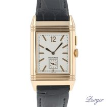Jaeger-LeCoultre Grande Reverso Ultra Thin Duoface Rose gold 27.3mm Silver Arabic numerals