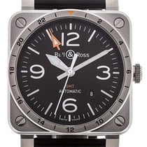 Bell & Ross BR 03 BR0393-GMT-ST/SCA new