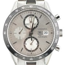 TAG Heuer Carrera Calibre 16 Steel 41mm Silver No numerals