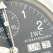 IWC Pilot Chronograph Acero 39mm Negro Árabes