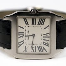 Cartier White gold Manual winding Silver Roman numerals 34mm pre-owned Santos Dumont