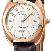Hermès Dressage Rose gold 40.5mm Silver United States of America, New York, Airmont