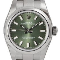 Rolex Oyster Perpetual 26 Steel Olive Green/Index 176200