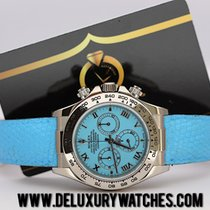Rolex Daytona 116519 Beach Turquoise Blue Gold Never Polished