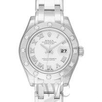 Rolex Lady-Datejust Pearlmaster nuevo Automático Reloj con estuche y documentos originales 80319