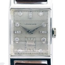 Longines White gold Manual winding White 35mm pre-owned