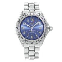 Breitling Superocean GMT Stahl 41mm Blau Arabisch