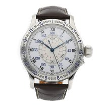 Longines 47mm Automatic pre-owned Lindbergh Hour Angle White