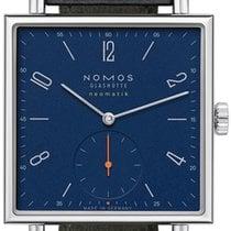 NOMOS Tetra Neomatik Staal 33mm Blauw Arabisch