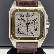 Cartier Santos 100 51.1mm Silber Römisch