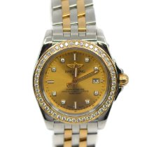 Breitling Galactic 32 Gold/Steel 32mm Yellow No numerals