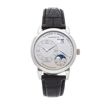 A. Lange & Söhne Platinum Manual winding Grey Roman numerals 38.5mm pre-owned Lange 1