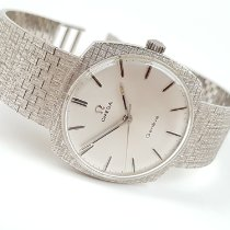 Omega White gold Manual winding Silver 33mm pre-owned Genève