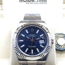 롤렉스 (Rolex) Datejust II Blue Index Dial White Gold Bezel 41mm NEW