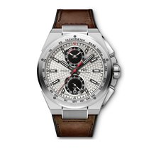 IWC Ingenieur Chronograph pre-owned 45mm Silver Chronograph Date Tachymeter Leather
