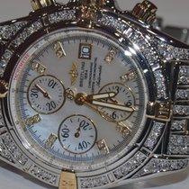 Breitling Chronomat Evolution 18K Gold MOP Diamonds