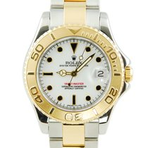Rolex Yacht-Master Two Tone 18kt Yellow Gold/SS White Dial-68623