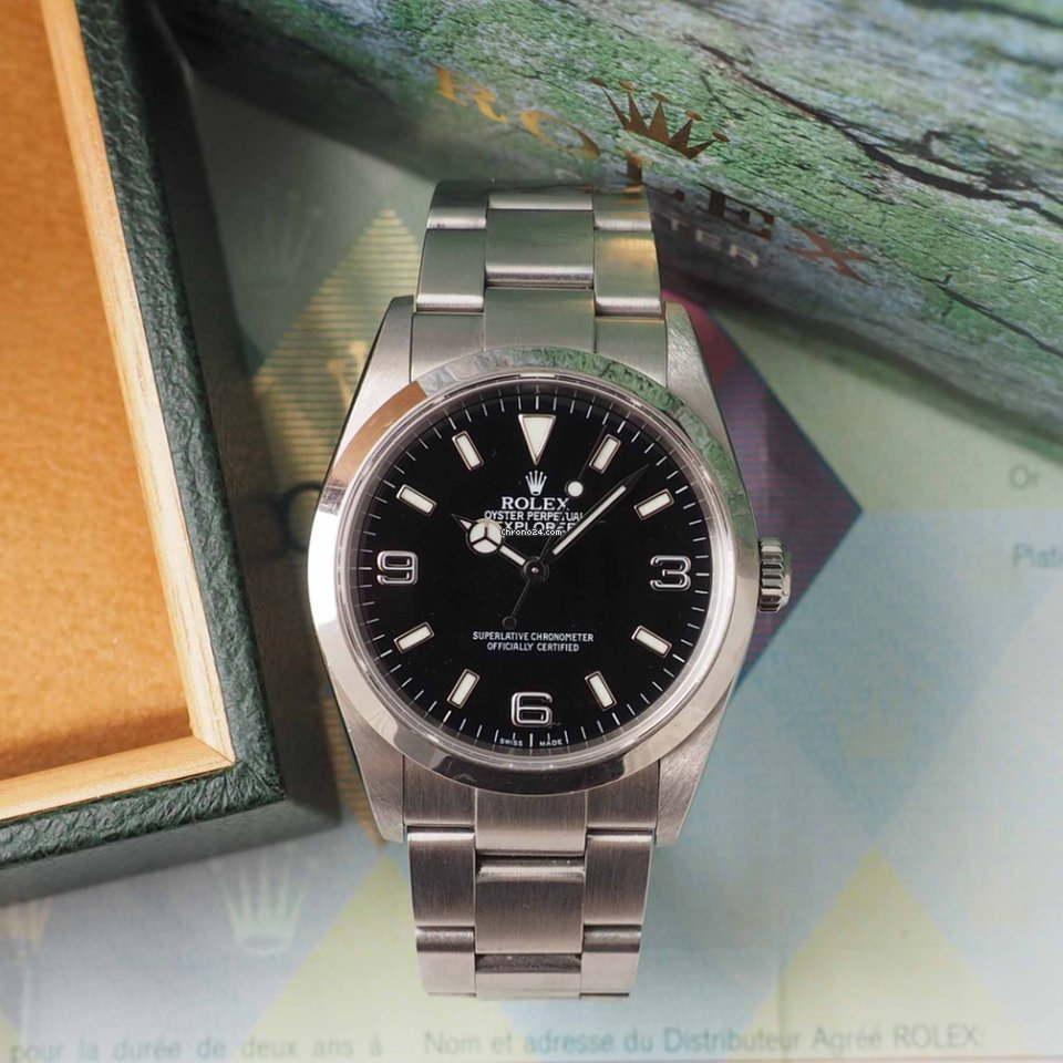 Rolex Explorer Ref. 114270 With Box and Papers