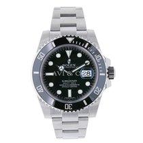 Rolex SUBMARINER Stainless Steel Watch Black Ceramic Watch 116610