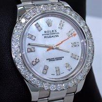 Rolex Milgauss 116400 Oyster Mop Dial 3.5ct Diamond Bezel mint...