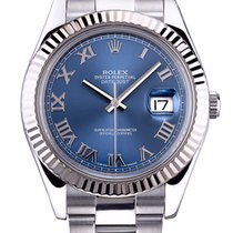 Rolex Datejust II Blue Roman Dial