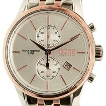 Hugo Boss Jet Quartz Chronograph Two Tone Steel Mens Watch...