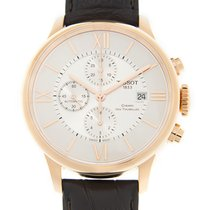 Tissot T-classic 18k Rose Gold Silver Automatic T099.427.36.03...