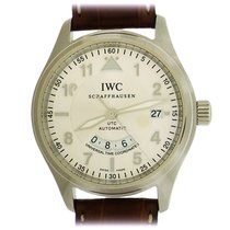 IWC Pilot Spitfire UTC Steel 39mm Silver Arabic numerals United States of America, New York, New York