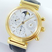 IWC Yellow gold Chronograph 39mm pre-owned Da Vinci Perpetual Calendar