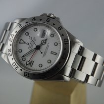 Rolex 40mm Automatic 1991 pre-owned Explorer II White