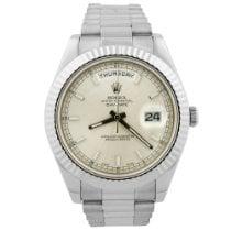 Rolex Day-Date II White gold 41mm Silver United States of America, California, Fullerton