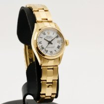 Rolex Oyster Perpetual Lady Date Yellow gold 26mm White Roman numerals