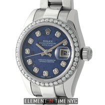 Rolex Datejust 26mm Custom Diamond Bezel Sodalite Diamond Dial...
