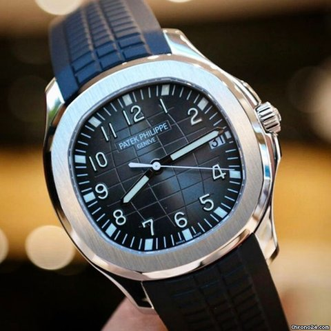 Patek Philippe Aquanaut Stainless Steel Rubber Strap Watch
