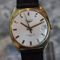 Longines --- Vintage Conquest Hf 18k Yellow Gold Mechanical...