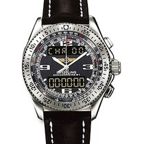 Breitling A7836238/F508 str B1 in Steel - on Brown Leather...