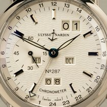 Ulysse Nardin pre-owned Automatic 40mm Silver Sapphire Glass 3 ATM