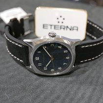 Eterna Heritage Military Steel 40mm Black Arabic numerals