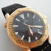 Omega Seamaster Professional Diver 300m 18k Rose Gold Black