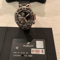 Hublot Techframe Ferrari Tourbillon Chronograph Tántalo 45mm Blanco Romanos
