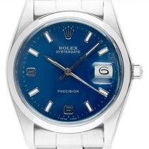 Rolex Oyster Precision Steel 35mm Blue