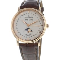 Blancpain Villeret Quantième Complet pre-owned 38mm Moon phase Date Month Leather