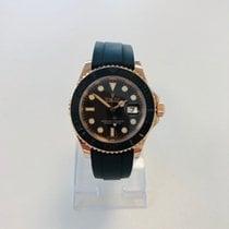 Rolex Yacht-Master 40 Ruzicasto zlato 40mm Crn Bez brojeva