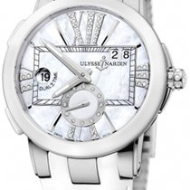 Ulysse Nardin Executive Dual Time Lady Steel 40mm Mother of pearl Roman numerals