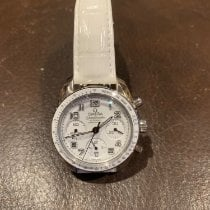 Omega Steel Automatic White 38mm pre-owned Speedmaster Ladies Chronograph