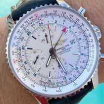 Breitling Navitimer World Acero 46mm Blanco Árabes