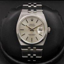 Rolex Datejust Oysterquartz Stal 36mm Srebrny Bez cyfr